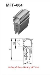 Gioăng tủ điện cài đứng MFT-004