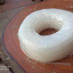 Ống silicone trắng trong cuộn 100 mét