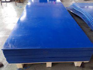 Tam nhua UHMW-PE day 12mm mau xanh